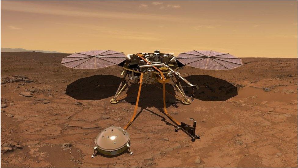 لرزهنگار مریخی ناسا پرتاب شد