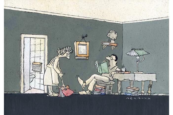 کتاب از پشت عینک کاریکاتوریستها