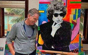 جیمز باند سابق نقاشی میکند | تابلوی ۱.۴ میلیون دلاری از باب دیلن