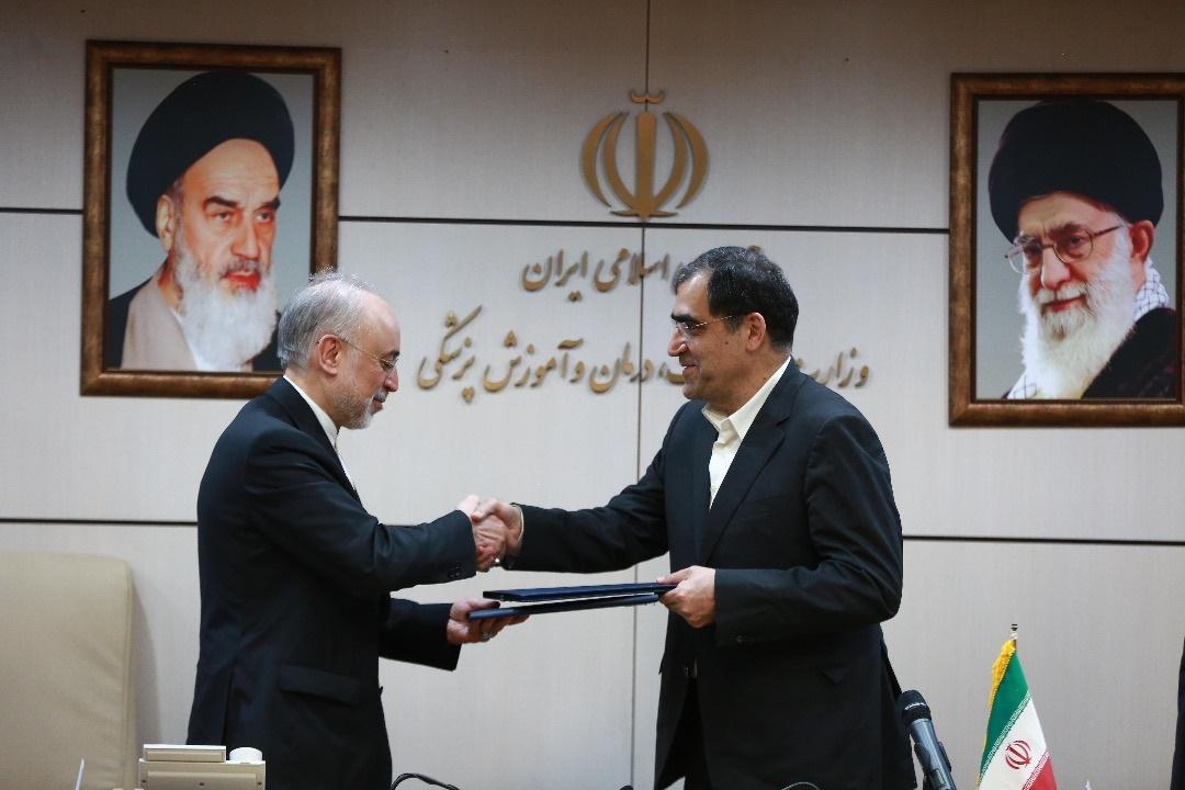 وزیربهداشت و رییس سازمان انرژی اتمی