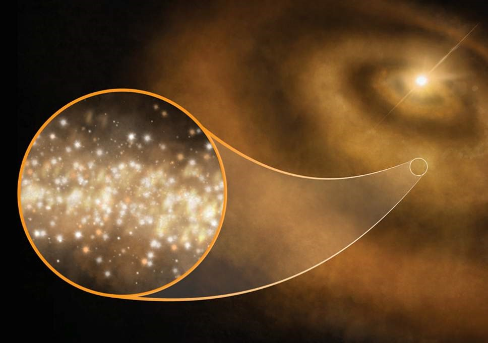 شناسایی درخشش الماسها در  مدار ستارههای جوان