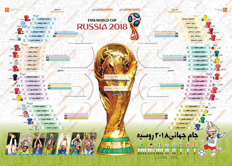 برنامه کامل بازیهای جام جهانی ۲۰۱۸ روسیه