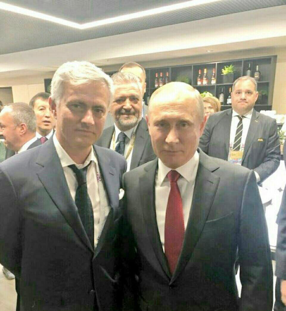 عکس روز   خوزه مورینیو و ولادیمیر پوتین