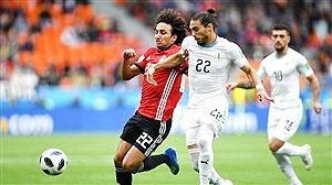 جام جهانی؛ پیروزی اروگوئه مقابل مصر