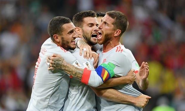 پرتغال ۳- اسپانیا ۳ |  حریفان ایران تساوی کردند