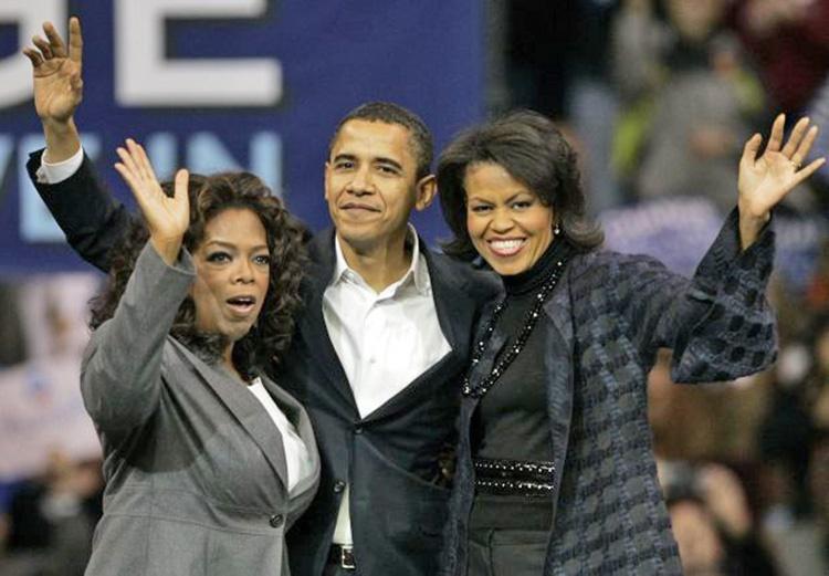 اپرا وینفری و باراک اوباما
