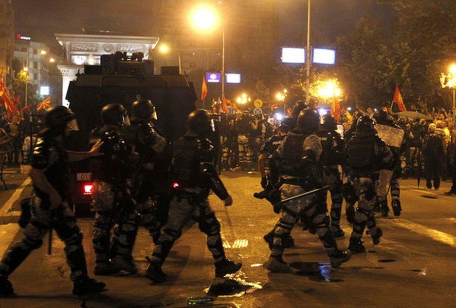 تظاهرات ضد دولتی مخالفان تغییر نام مقدونیه به خشونت کشیده شد