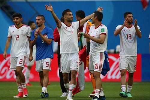 تصاویری از دیدار تیمهای فوتبال ایران و مراکش در جام جهانی ۲۰۱۸