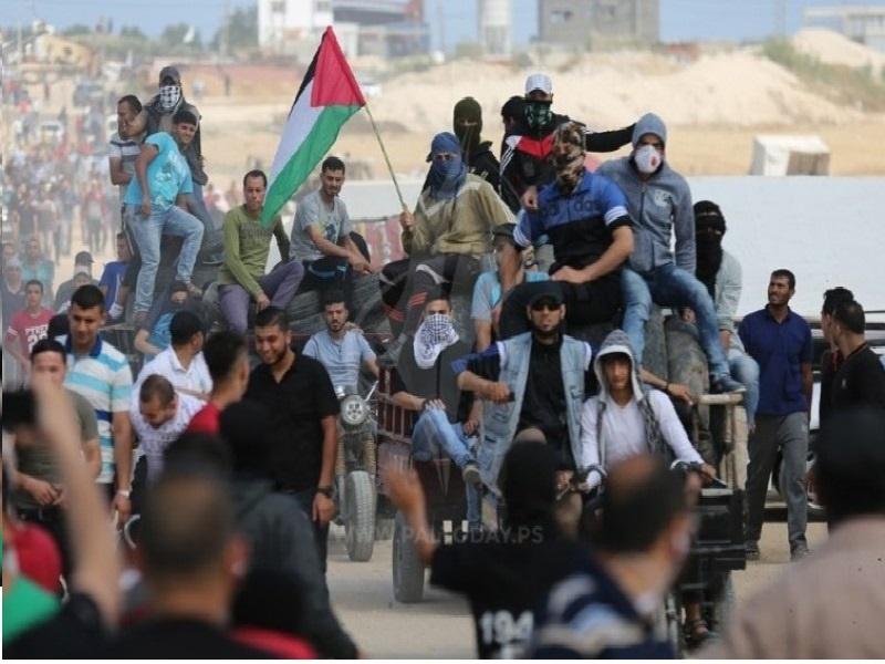 """غزه این بار در جمعه """"وفا به زخمی ها"""" به پا خاست"""