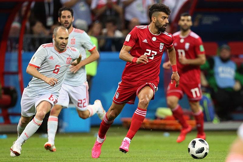 چند تصویر از دیدار تیمهای ایران و اسپانیا در جام جهانی ۲۰۱۸