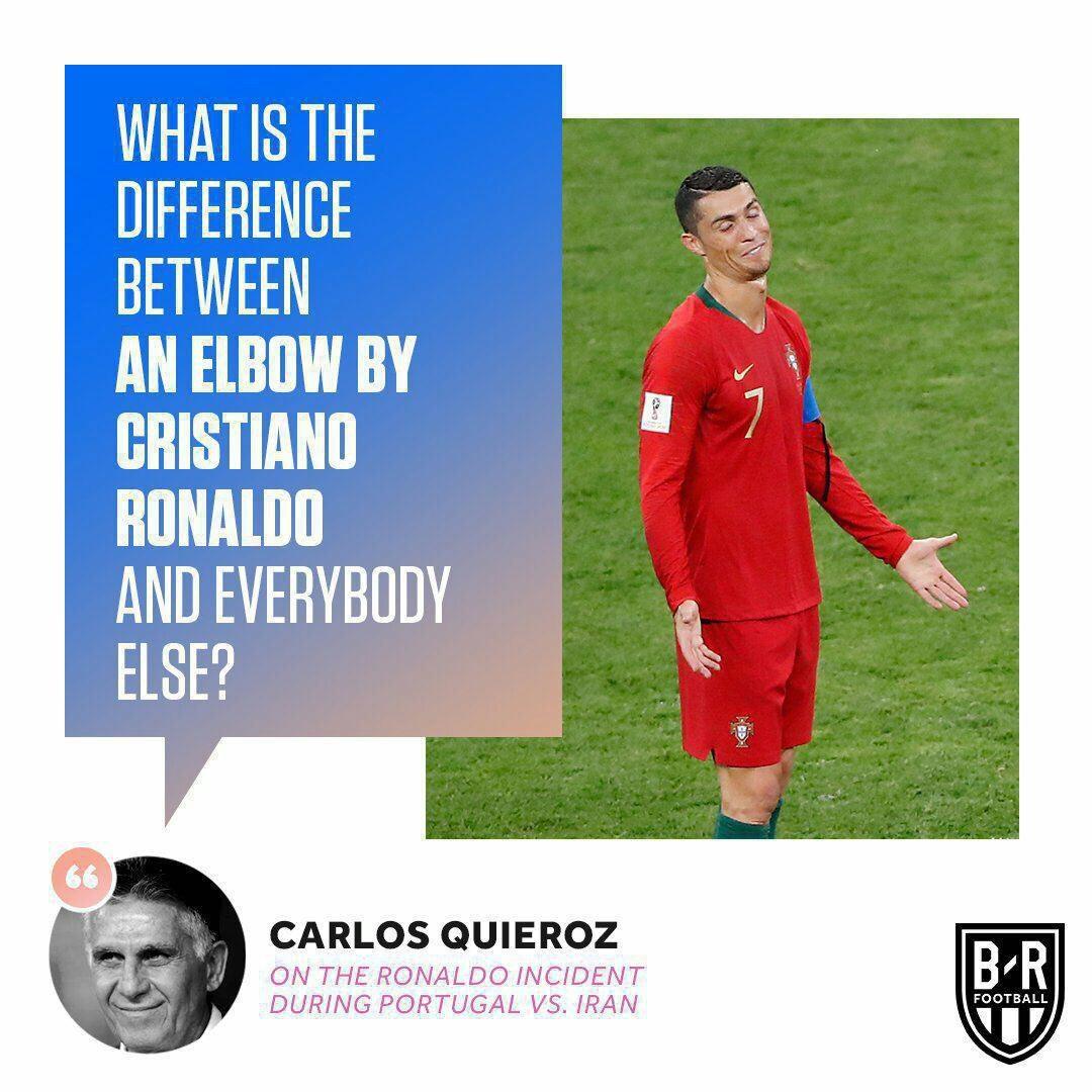 چه تفاوتی میان آرنج رونالدو و دیگر بازیکنان وجود دارد؟
