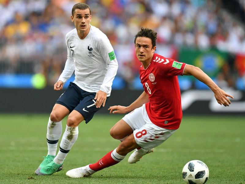 جام جهانی ۲۰۱۸؛ دانمارک  ۰  فرانسه  ۰