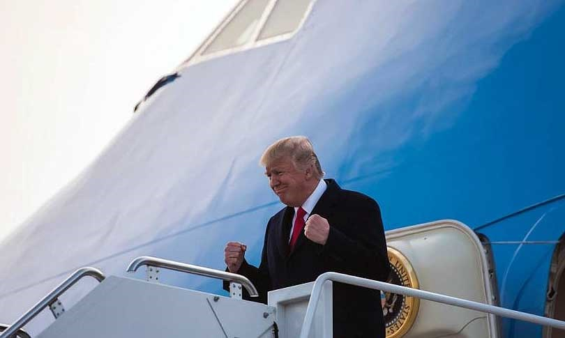دونالد ترامپ را در هواپیما سر کار گذاشتند
