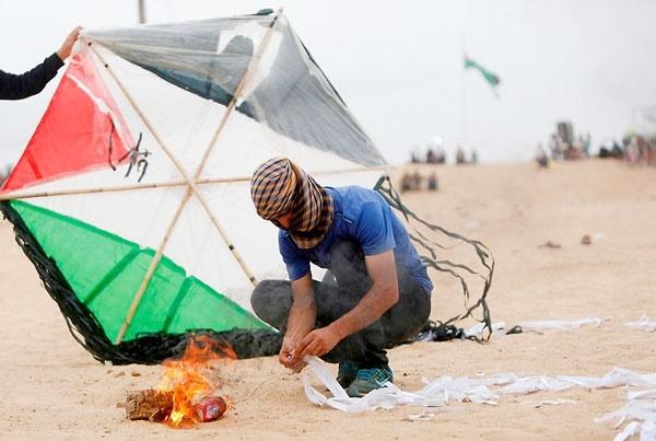 وحشت صهیونیستها از بادبادکهای آتشزای فلسطینی