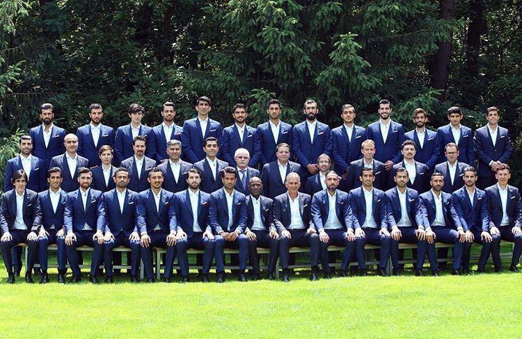 عکس |  تیم ملی فوتبال ایران با لباس رسمی برای جام جهانی روسیه