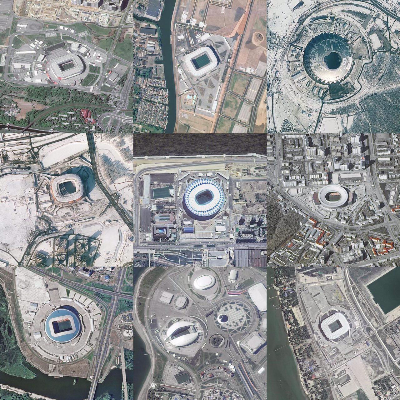 عکس   از چشم پرندگان؛  ورزشگاههای جام جهانی ۲۰۱۸ روسیه