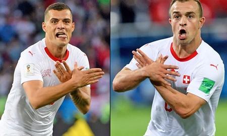 توپ سیاست در زمین جام جهانی | شادی گلزنان سوئیس جنجالی شد