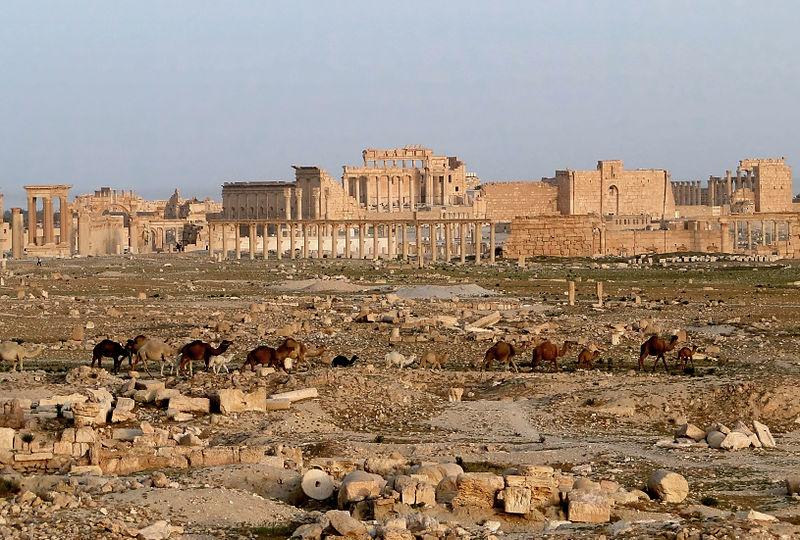 بازسازی شهر باستانی پالمیرای سوریه توسط متخصصان روسیه