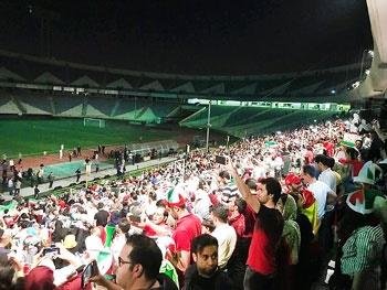نمایش فوتبال ورزشگاه آزادی