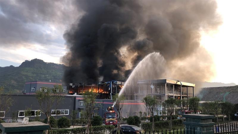 انفجار مرگبار در یک مرکز صنعتی در چین