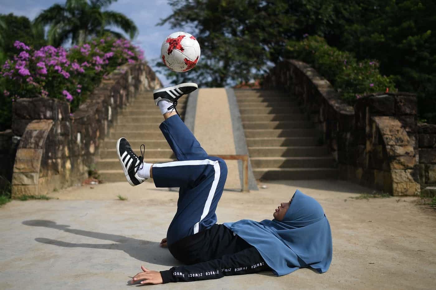 عکس روز: دختر فوتبالیست