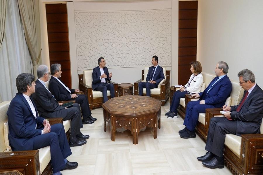 جابری انصاری با رئیس جمهور سوریه دیدار کرد