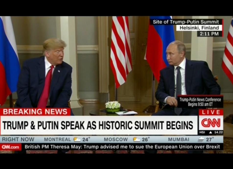 دیدار پوتین و ترامپ در هلسینکی آغاز شد