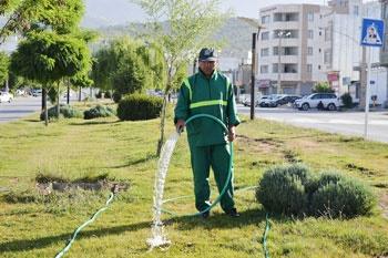آبیاری فضای سبز در طول روز ممنوع است
