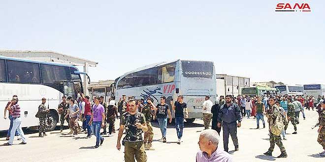 شهروندان فوعه و کفریا از مناطق تحت تسلط تروریست ها خارج شدند