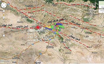 گسلهای تهران