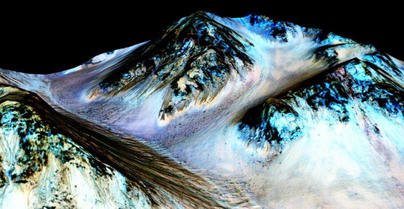 آب مایع روی مریخ کشف شد
