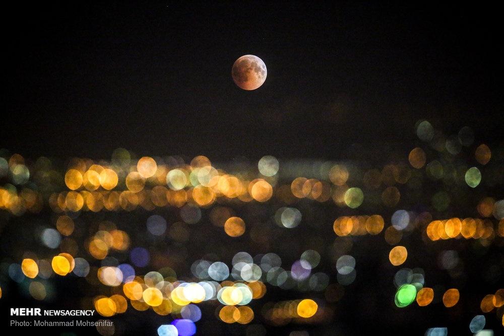 تصاویر ماهگرفتگی در تهران