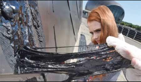 سقف موزه گلاسکو ذوب شد