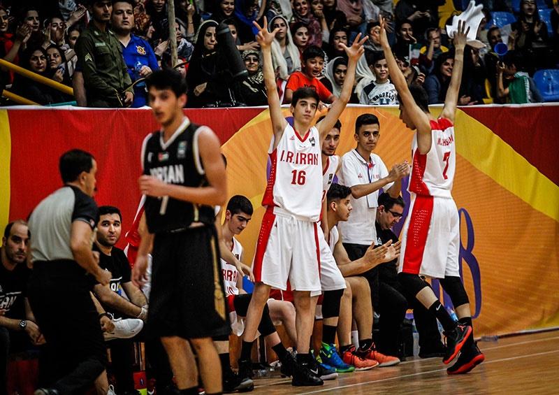 بسکتبال نوجوانان غرب آسیا/ پیروزی ایران مقابل اردن