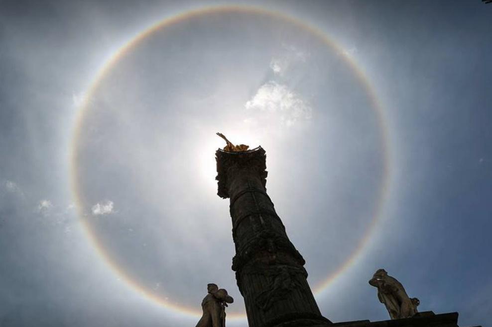 عکس روز: هاله خورشید