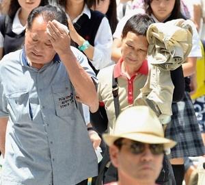 موج گرمای شدید در ژاپن