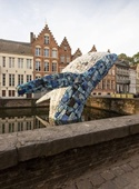 ساخت الهمان شهری غولپیکر از ضایعات پلاستیکی