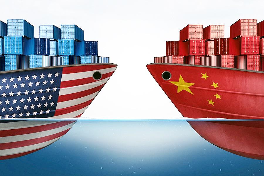 حجم مبادلات تجاری چین و آمریکا در حال کاهش است