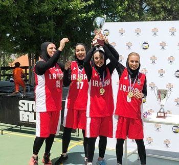 بانوان بسکتبال سه نفره ایران قهرمان غرب آسیا شدند