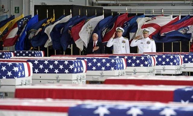 بازگشت بقایای اجساد ۵۵ سرباز آمریکایی از کرهشمالی
