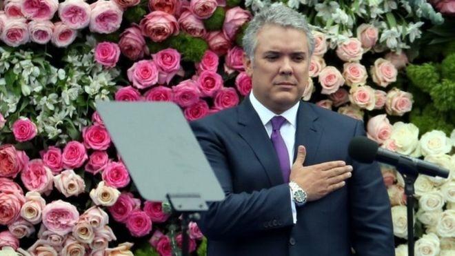 رئیس جمهور جدید کلمبیا سوگند یاد کرد