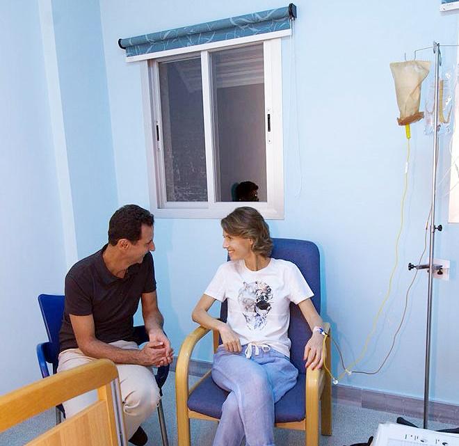 ابتلای همسر بشار اسد به بیماری سرطان