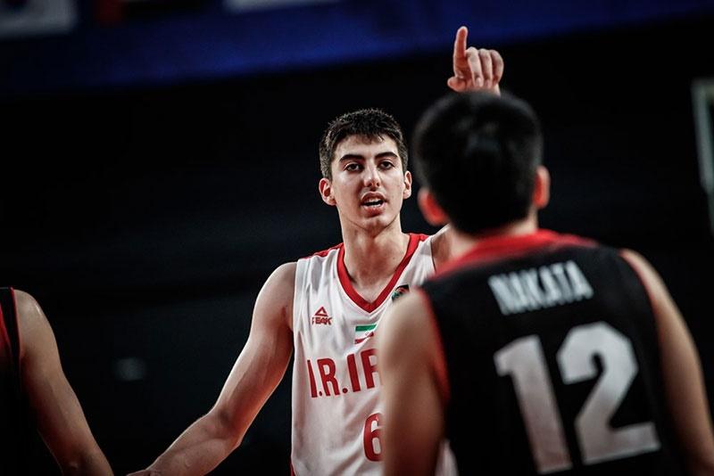 بسکتبال جوانان آسیا |  ایران با برد ژاپن صدرنشین شد