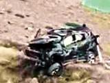 ماشین عروس هنگام فیلمبرداری به دره رفت