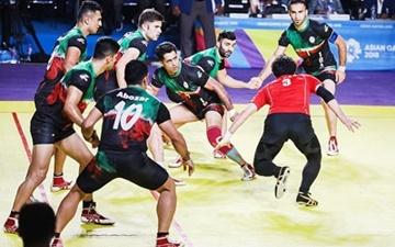 سومین پیروزی تیم کبدی ایران در آسیایی جاکارتا