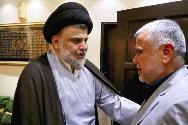 دیدار هادی العامری با مقتدا صدر در نجف