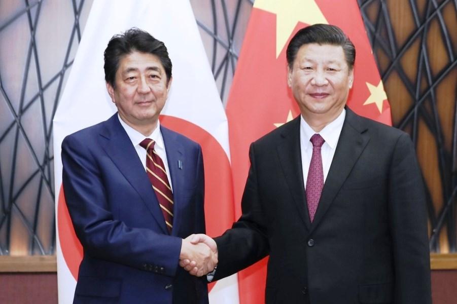 رهبران چین و ژاپن در روسیه دیدار کردند
