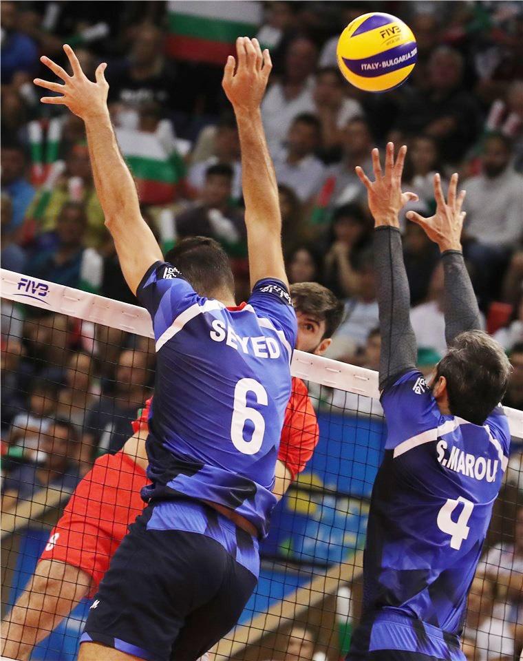 والیبال ایران با شکست بلغارستان صدرنشین شد