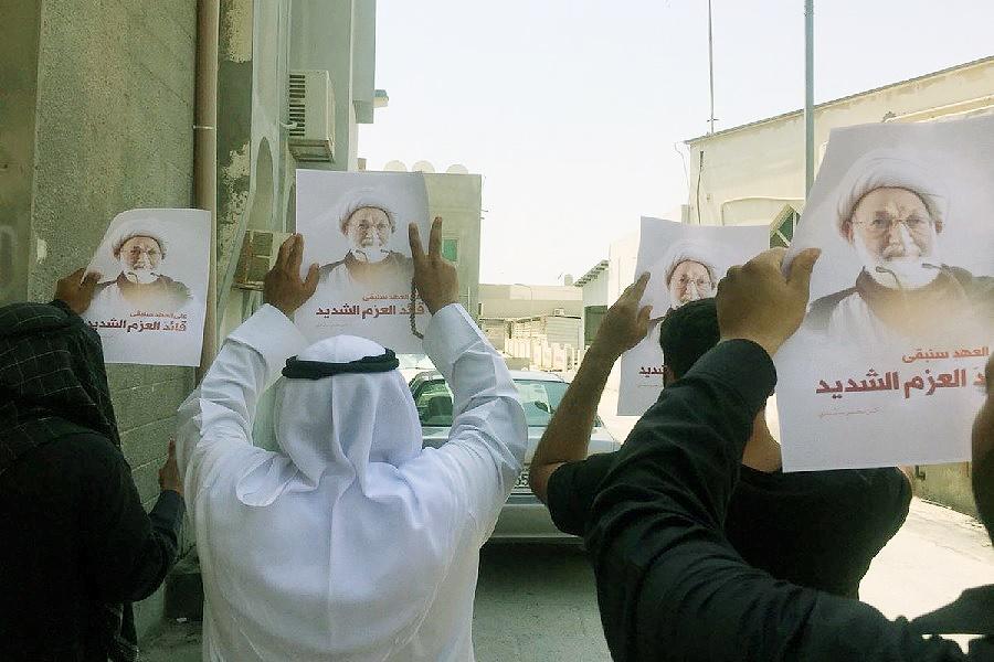 شیعیان بحرین در حمایت از شیخ عیسی قاسم راهپیمایی کردند