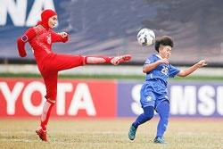 پیروزی تیم فوتبال دختران زیر ۱۶ سال در نخستین بازی آسیایی